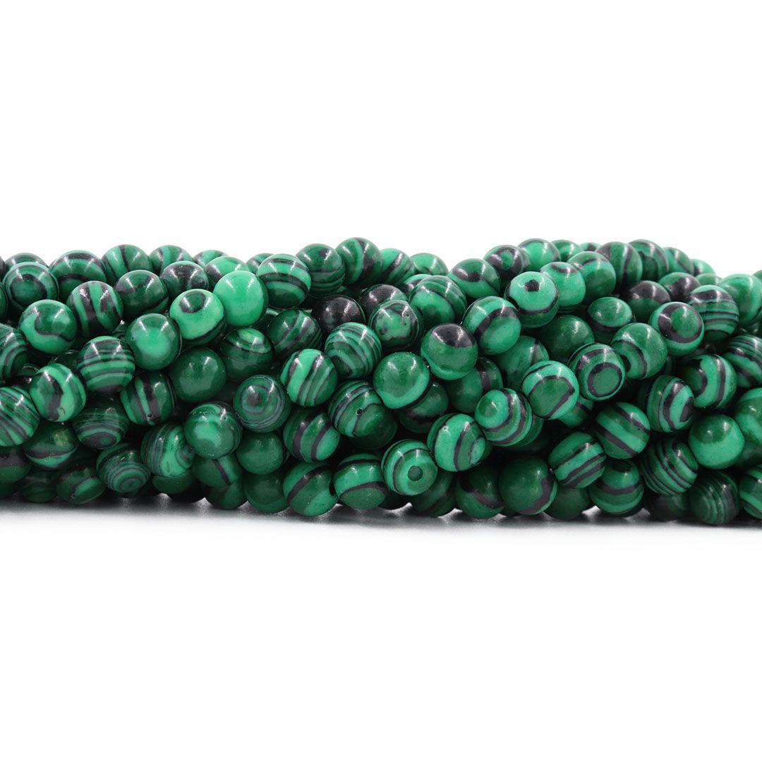 Malaquita Fio com Esferas de 6mm - F178  - ArtStones