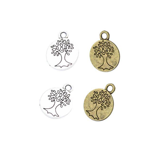 Medalha Árvore da Vida 12mm - 5 pcs - ACM_105  - ArtStones