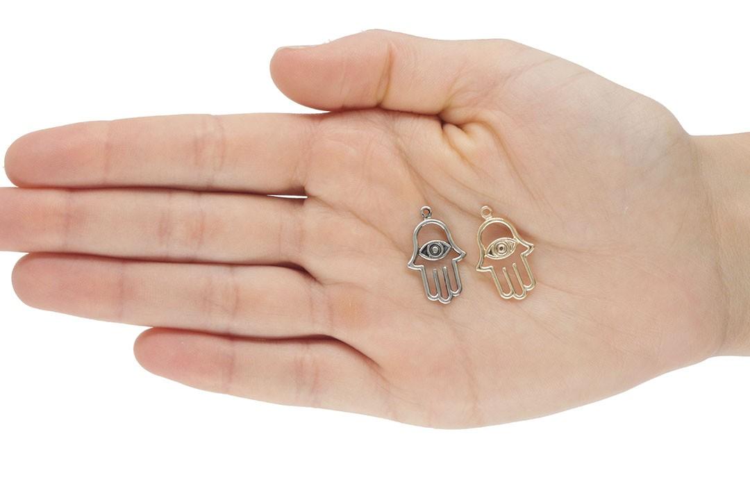 Medalha Mão de Deus 20mm Metal - 5 Peças - AM202  - ArtStones