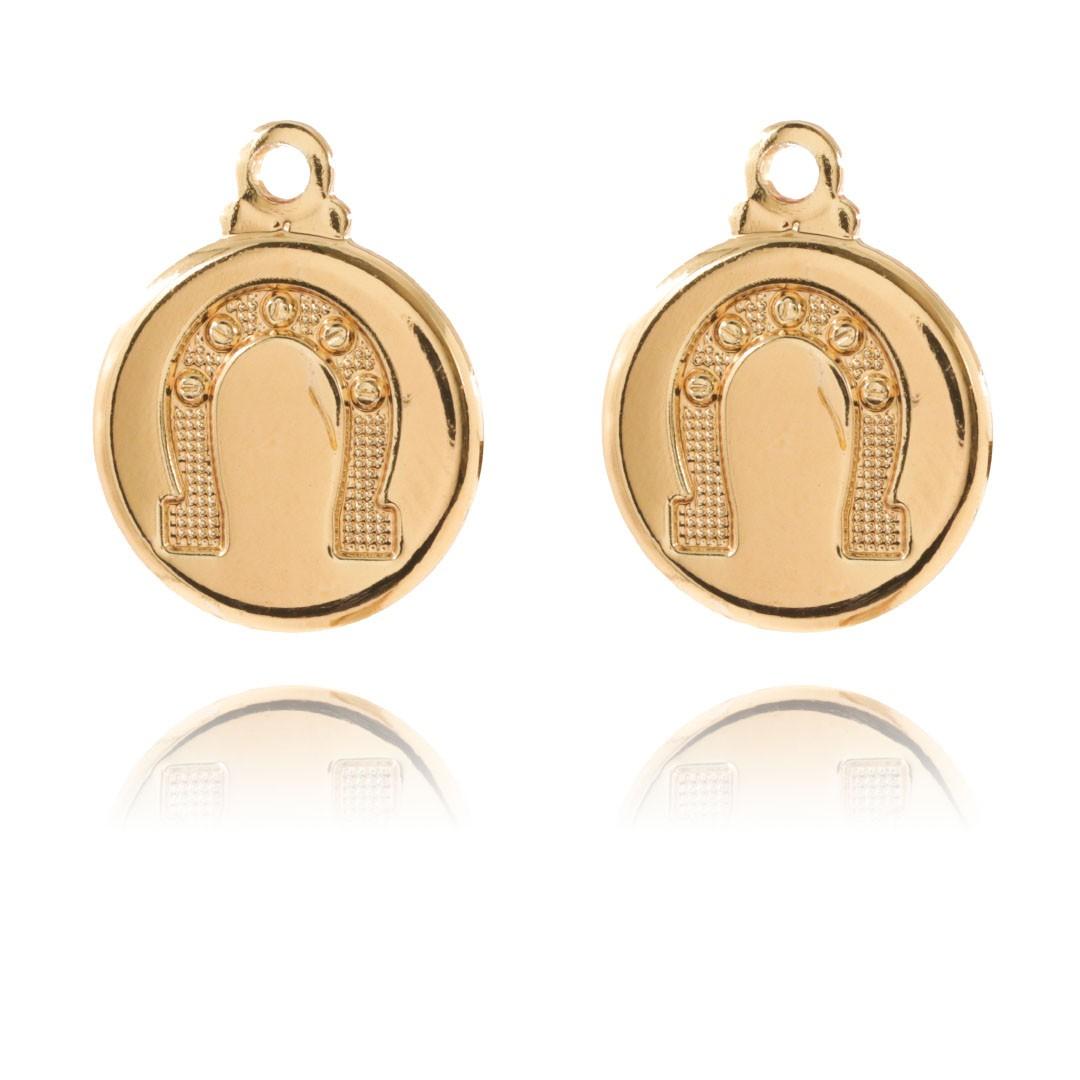 Medalha Mini Ferradura da Sorte 11mm Metal - 5 Peças - AM227  - ArtStones