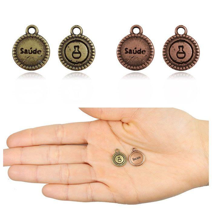 Medalha Pulseira Saúde 13mm Cores Variadas - 10 peças - ACM_414  - ArtStones