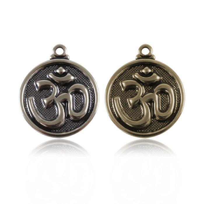 Medalha Símbolo Om 15mm Metal - 5 Peças - AM199  - ArtStones