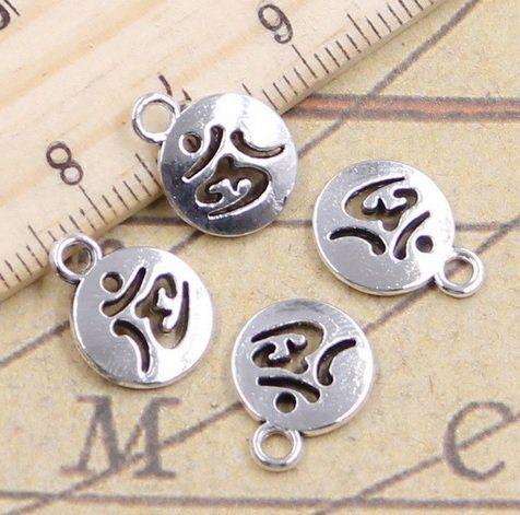 Medalha Símbolo OM para Pulseira e Japamala - 5 pcs - ACM_139  - ArtStones