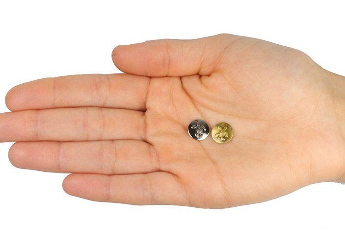 Medalha Tartaruga 11mm Metal - 5 Peças - ACM_403  - ArtStones