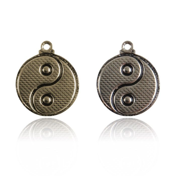 Medalha Yin Yang 15mm Metal - 5 Peças - AM207  - ArtStones