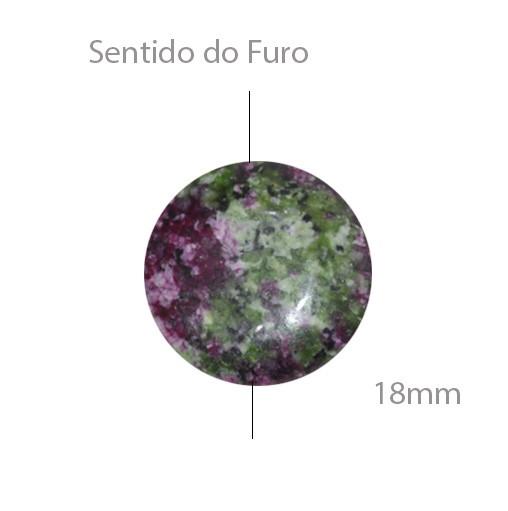 Moeda de Rubi Zoisite 18mm - 2 Peças - PMO_400  - ArtStones