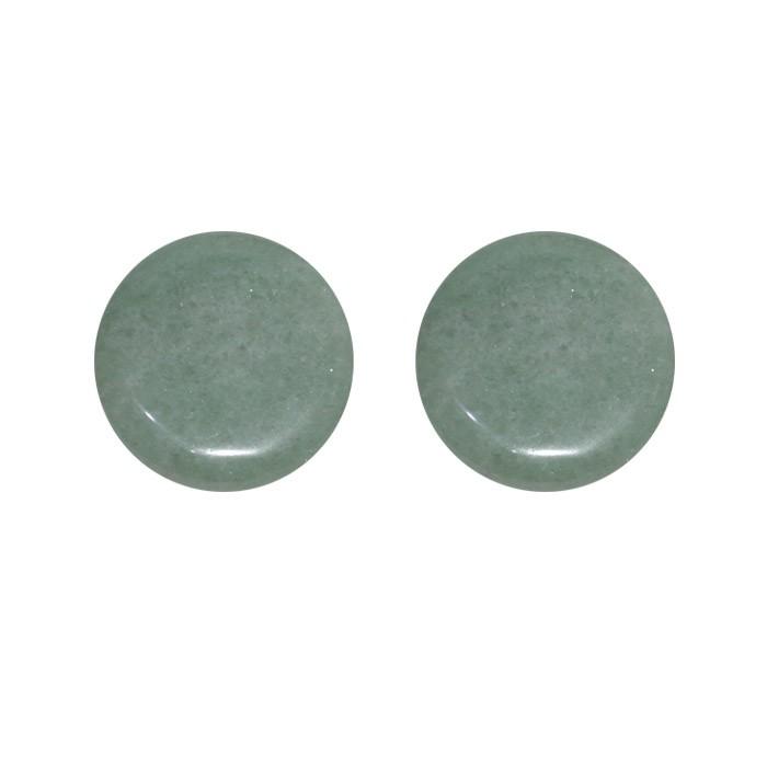 Moeda de Quartzo Verde Natural 25mm - 1 Peça - PMO_484  - ArtStones