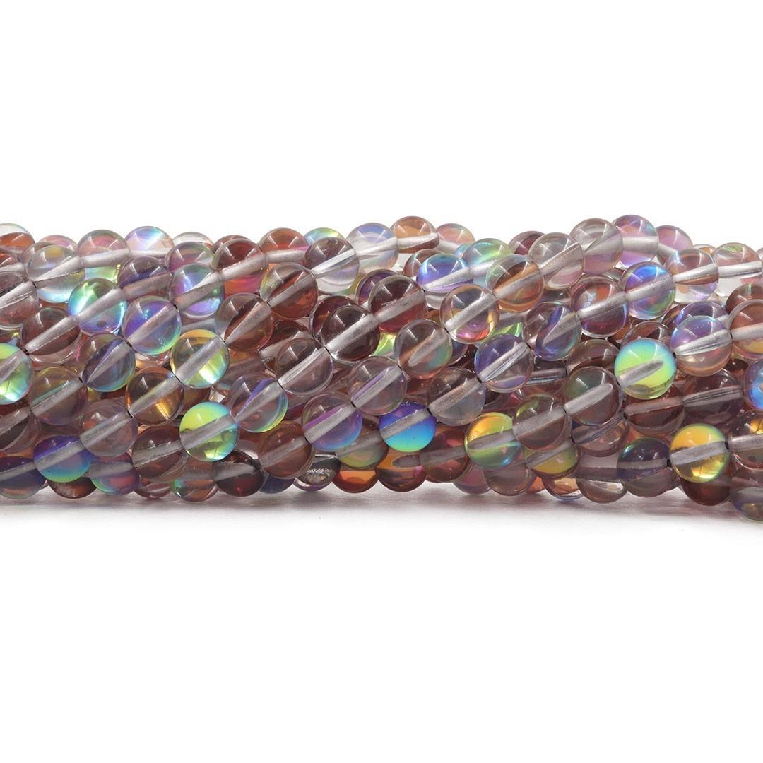 Murano Austríaco Rainbow Hot Brown 8mm - CV365  - ArtStones