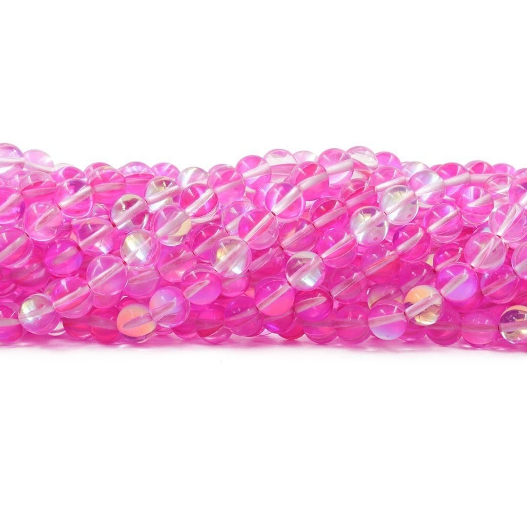 Murano Austríaco Rainbow Pink 8mm - CV361  - ArtStones