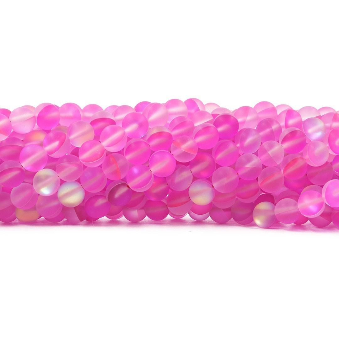 Murano Austríaco Rainbow Fosco Pink 8mm - CV373  - ArtStones