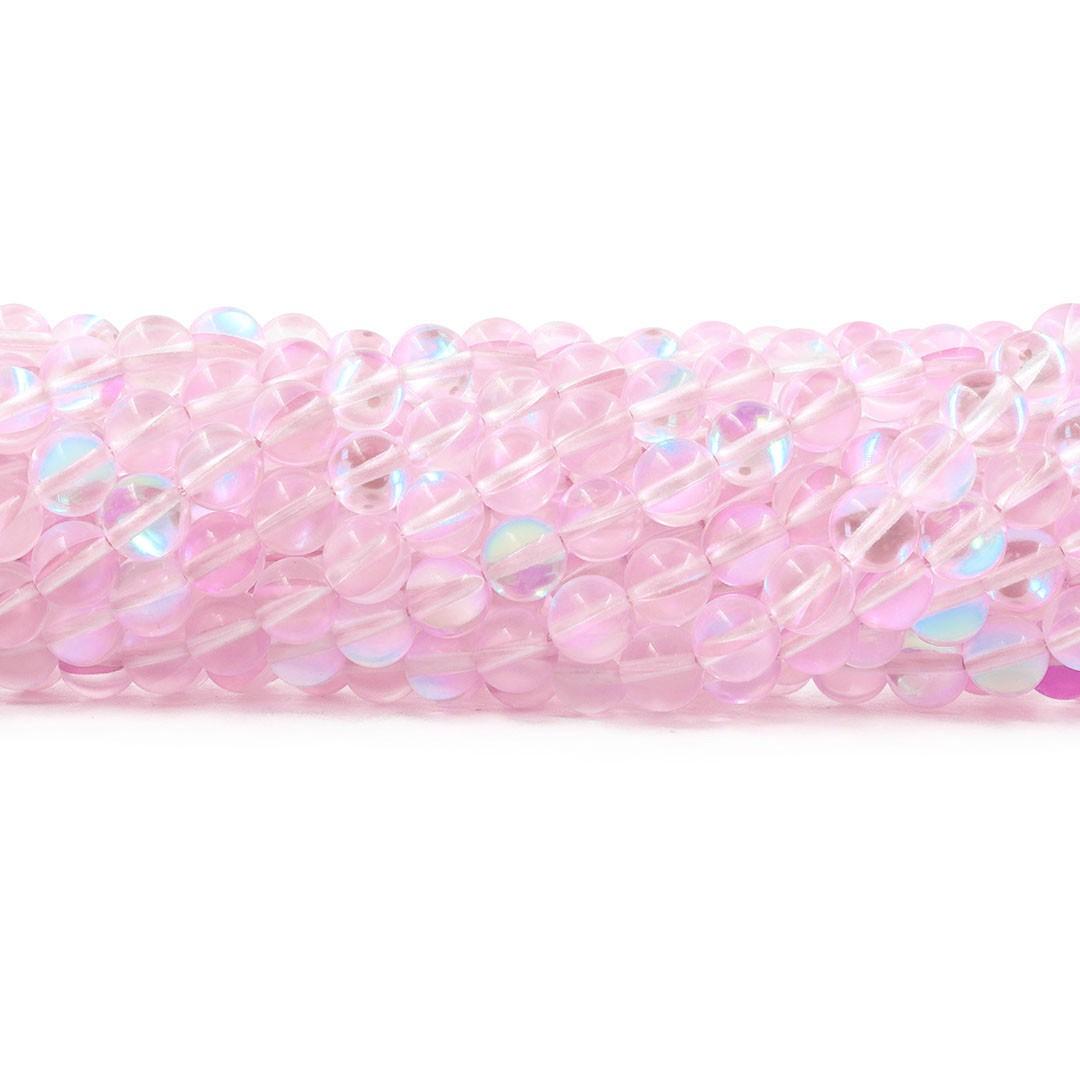Murano Austríaco Rainbow Soft Pink 8mm - CV362  - ArtStones
