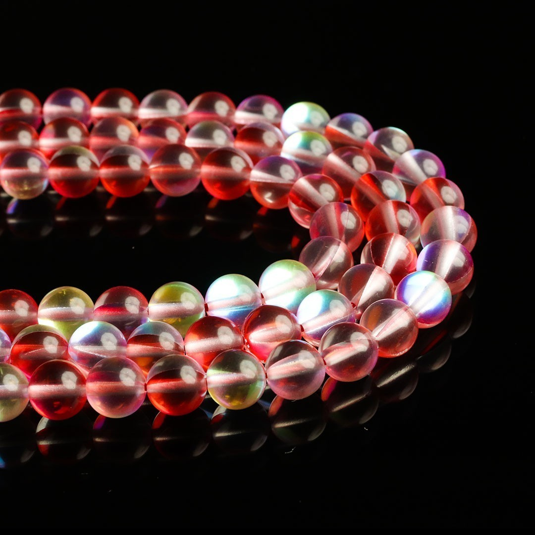 Murano Austríaco Rainbow Red Watermelon 8mm - CV359  - ArtStones