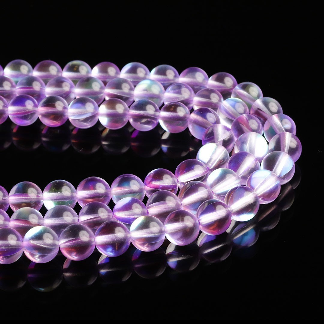 Murano Austríaco Rainbow Crystal Lavender 8mm - CV369  - ArtStones