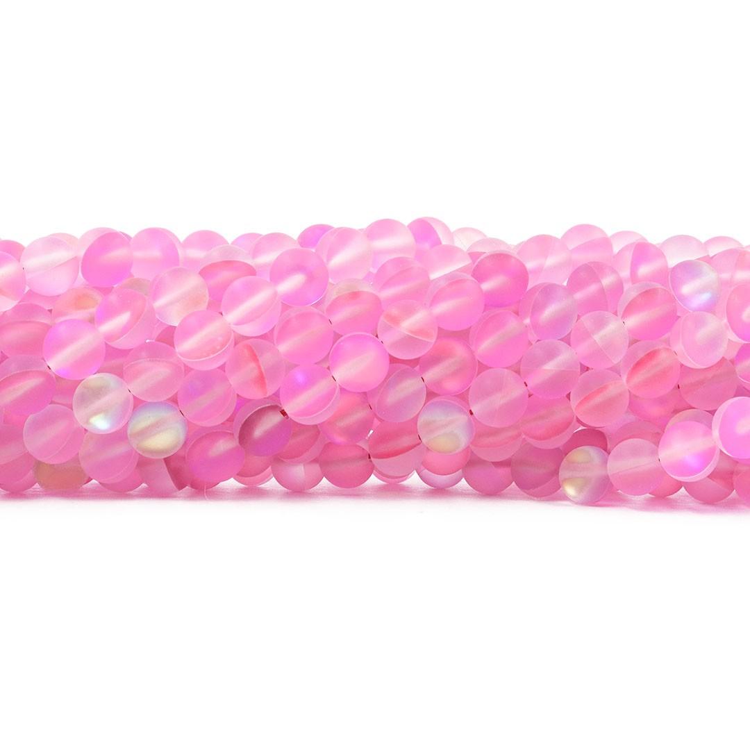 Murano Austríaco Rainbow Fosco Soft Pink  - 8mm - CV374  - ArtStones