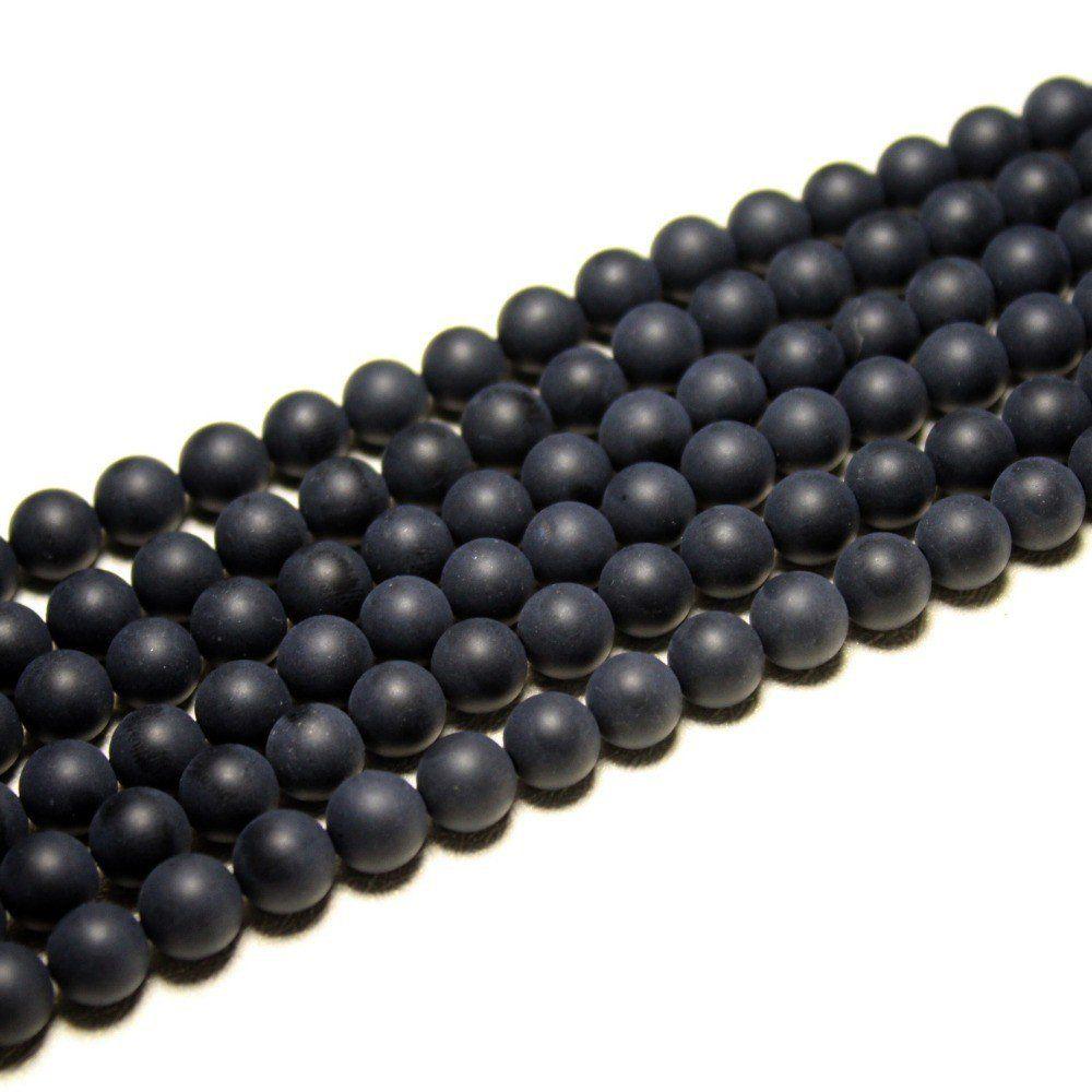 Murano Indiano Preto Fosco Qualidade AA 10mm - 36 esferas - CV233  - ArtStones
