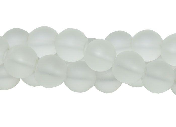 Murano Indiano Transparente 8mm Fosco - Pacote - CV234  - ArtStones