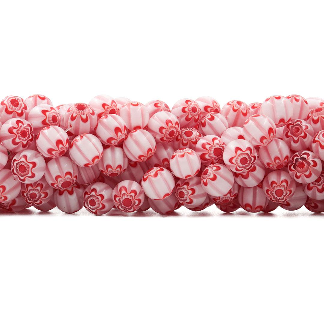 Murano Mil Flores Translúcido 12mm - CV568  - ArtStones