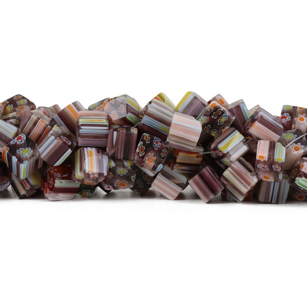 Murano Mil Flores Uva 8mm Quadrado - CV443  - ArtStones