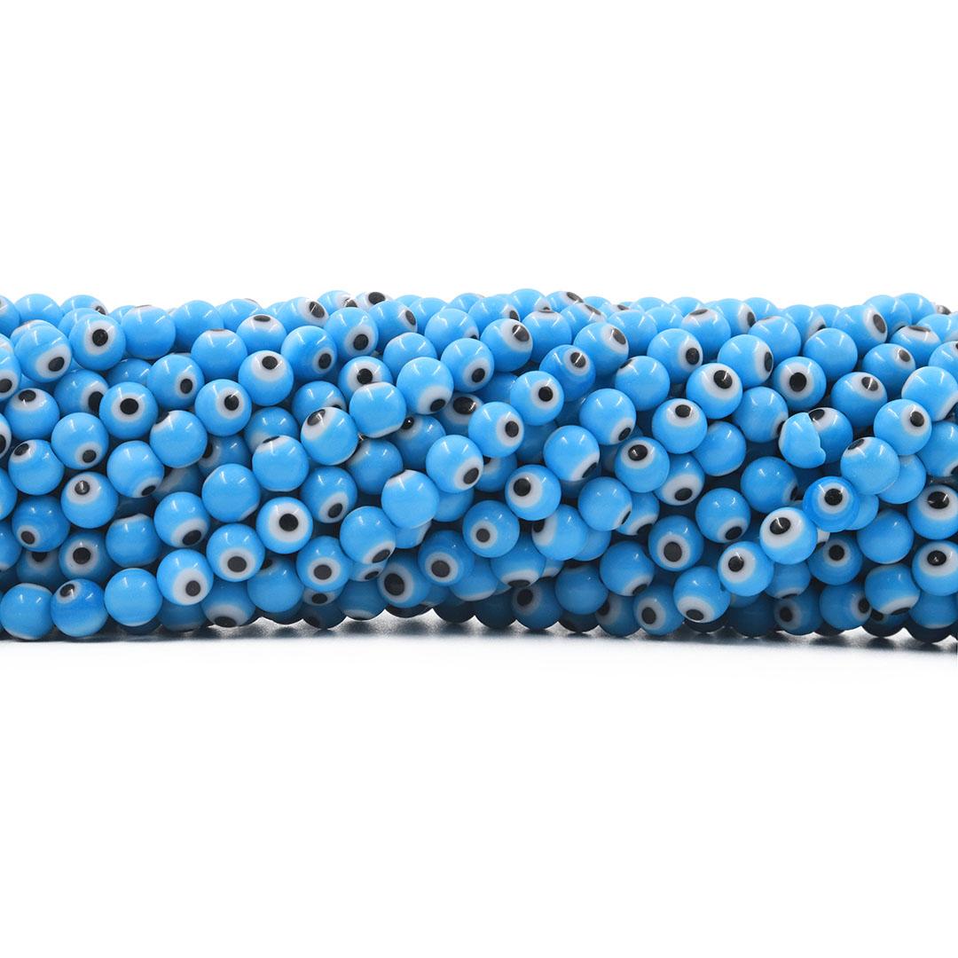 Murano Olho Grego Azul 6mm - CV275  - ArtStones