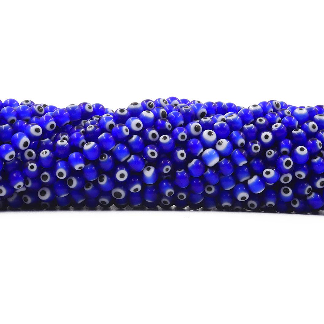 Murano Olho Grego Azul Bic 6mm - CV268  - ArtStones