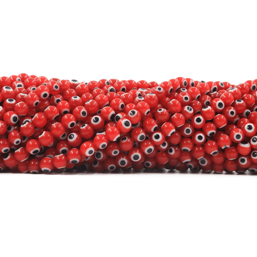 Murano Olho Grego Vermelho 6mm - CV149  - ArtStones