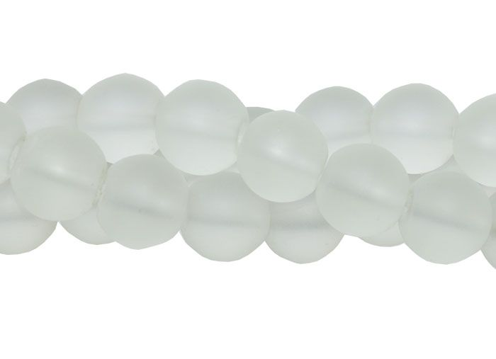 Murano Indiano Transparente 12mm Fosco - 33 peças - CV246  - ArtStones