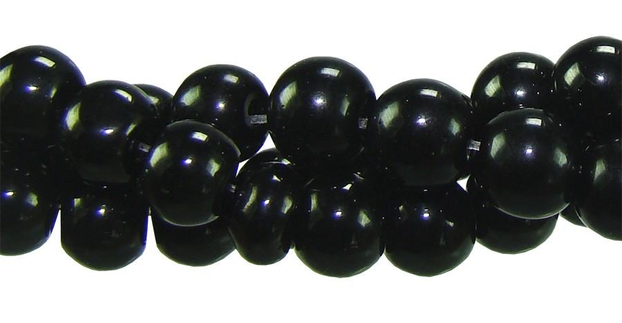 Murano Preto Esfera de 8mm - Pacote - FMU_110/8  - ArtStones