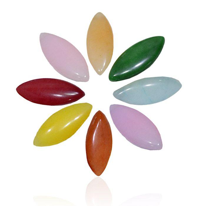 Navete de Jade Natural 30x12mm - Cores Variadas - 4 Peças - PA059  - ArtStones