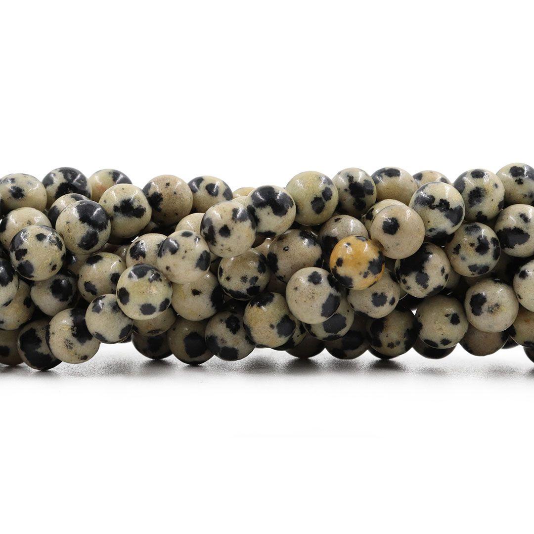 Obsidiana Dalmata Fio com Esferas de 10mm - F189  - ArtStones