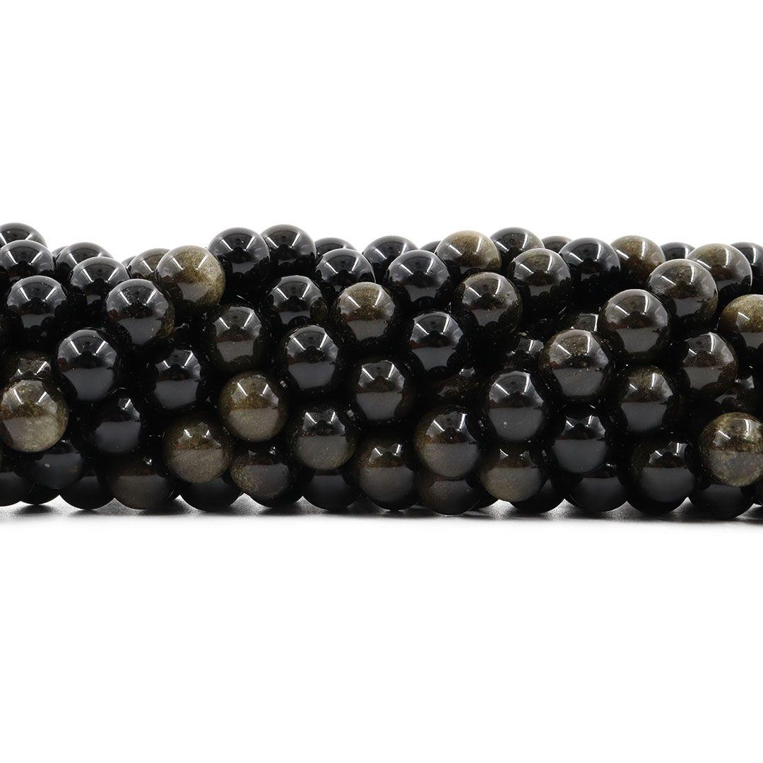 Obsidiana Gold Fio com Esferas de 10mm - F196  - ArtStones