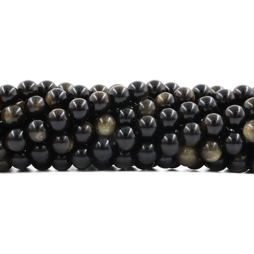 Obsidiana Gold Fio com Esferas de 8mm - F195  - ArtStones