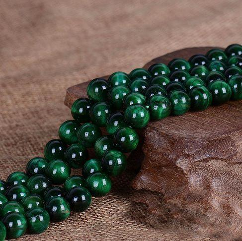 Olho de Tigre Verde Fio com Esferas de 6mm - F216  - ArtStones