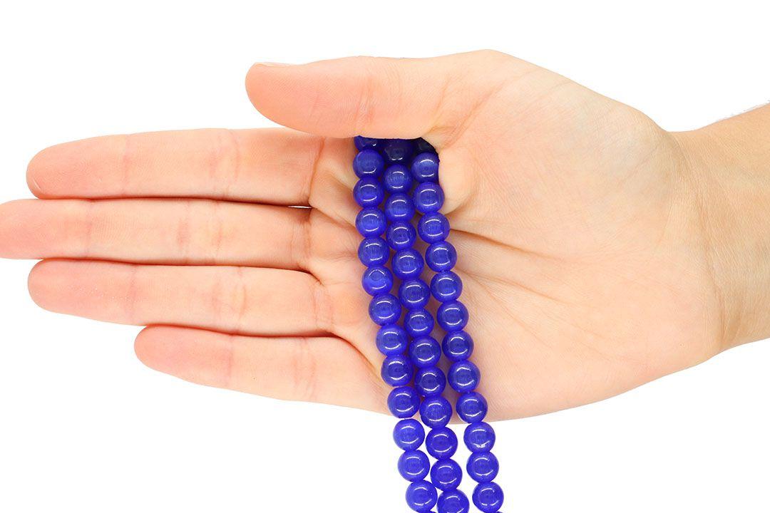 Olho de Gato Azul Bic Esferas Tamanhos Variados - OM056  - ArtStones