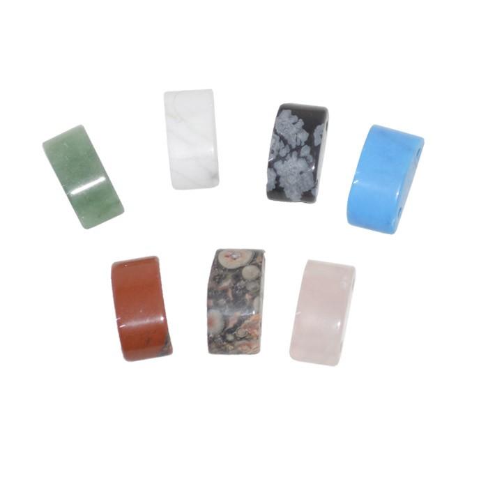 Passante de Pedra Natural 13x5mm 2 Furos - 8 Peças - PA022  - ArtStones