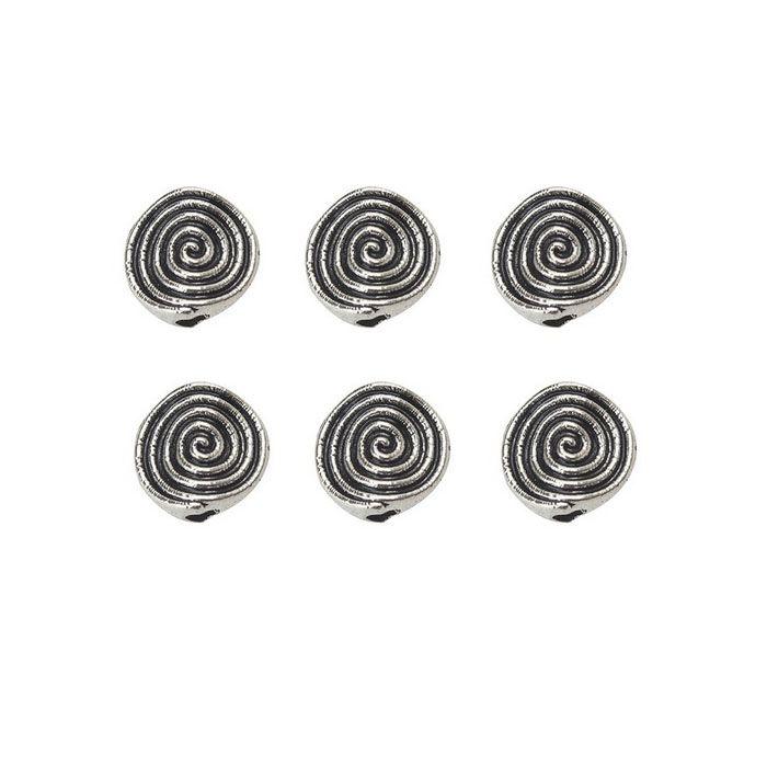 Passante Caracol 12mm Metal Envelhecido - 06 peças - ACM_294  - ArtStones