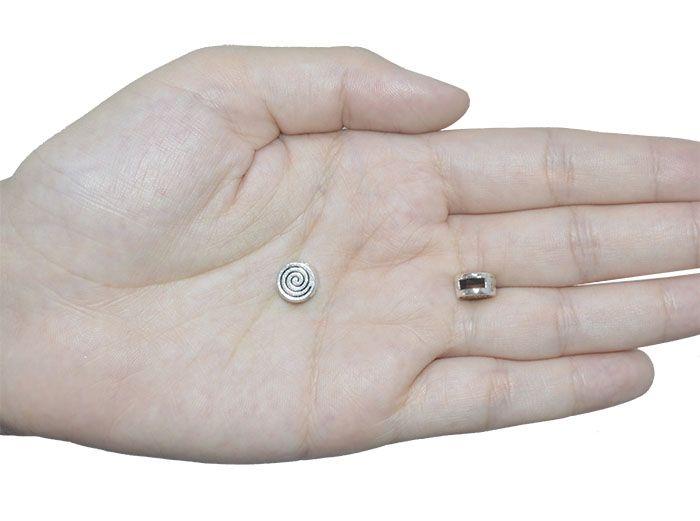 Passante Caracol 9x5mm Metal Envelhecido - 4 Peças - AM027  - ArtStones