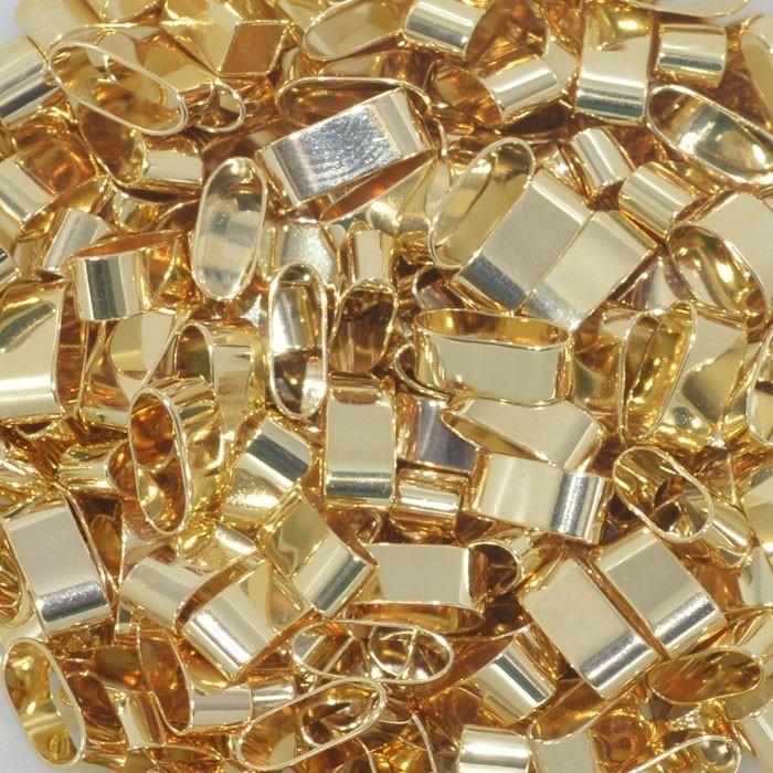 Passante Folheado a Ouro 9x4mm - Grama - ET_52FO  - ArtStones