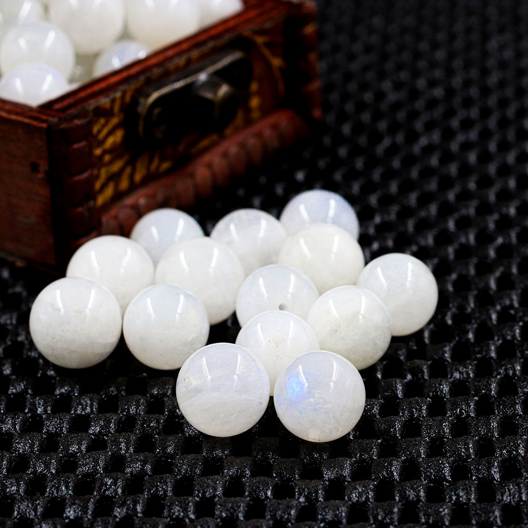 Pedra da Lua Natural Esferas Tamanhos Variados - 05 esferas - PP048  - ArtStones
