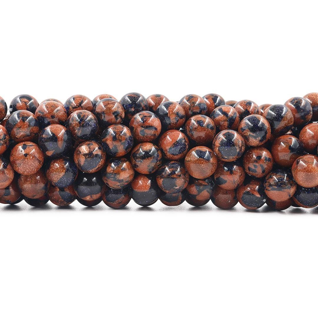 Pedra do Sol Mix Fio com Esferas de 10mm - F047  - ArtStones