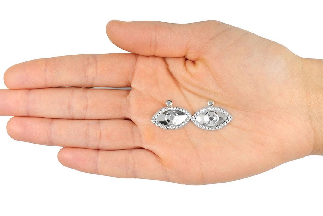 Penduricalho Olho de Hórus 23x16mm Folheado - 3PÇS - FO202  - ArtStones