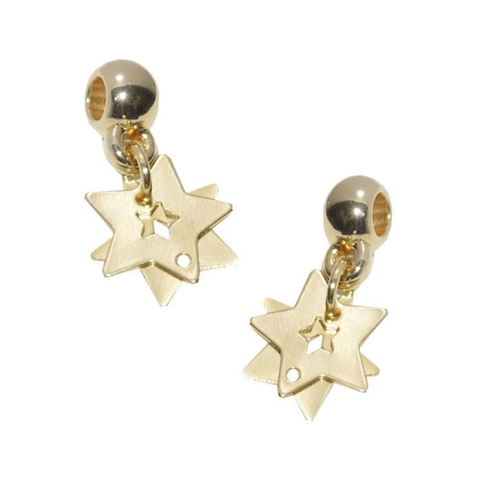 Penduricalho para Pulseira Estrela 20mm Folheado a Ouro - 1 Peça - BRF_105  - ArtStones