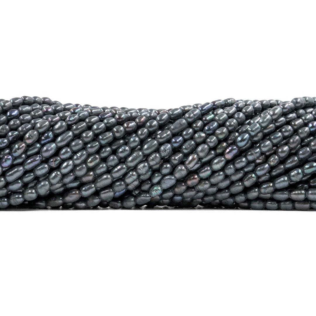 Pérola de Água Doce Arroz Mini Cinza Mesclada  4/5mm - PM072  - ArtStones