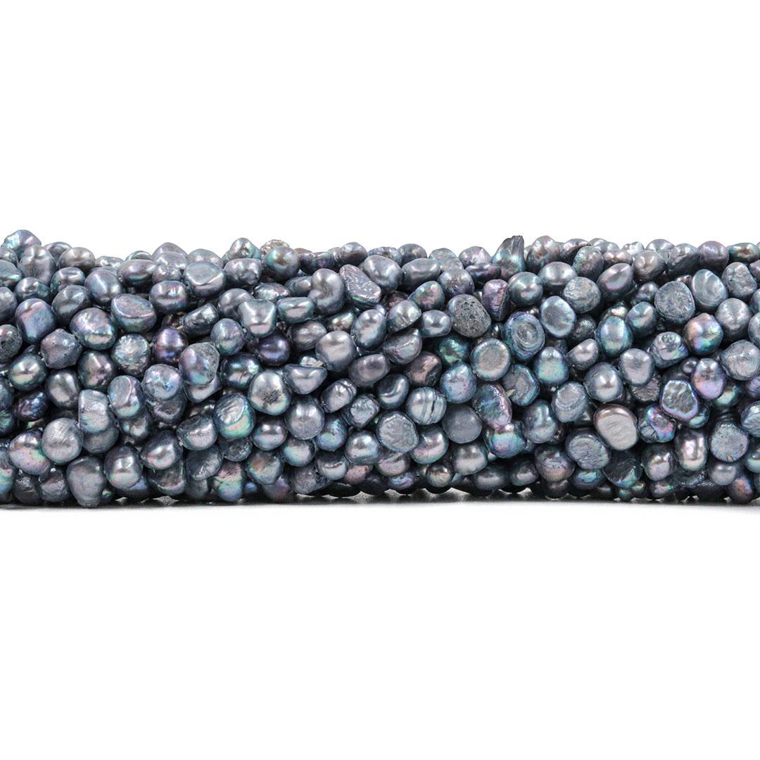 Pérola de Água Doce Cinza Mesclada 5/7mm - PM200  - ArtStones