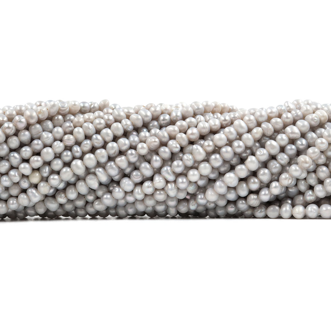 Pérola de Água Doce Gelo Batata 4/5mm - PM073  - ArtStones