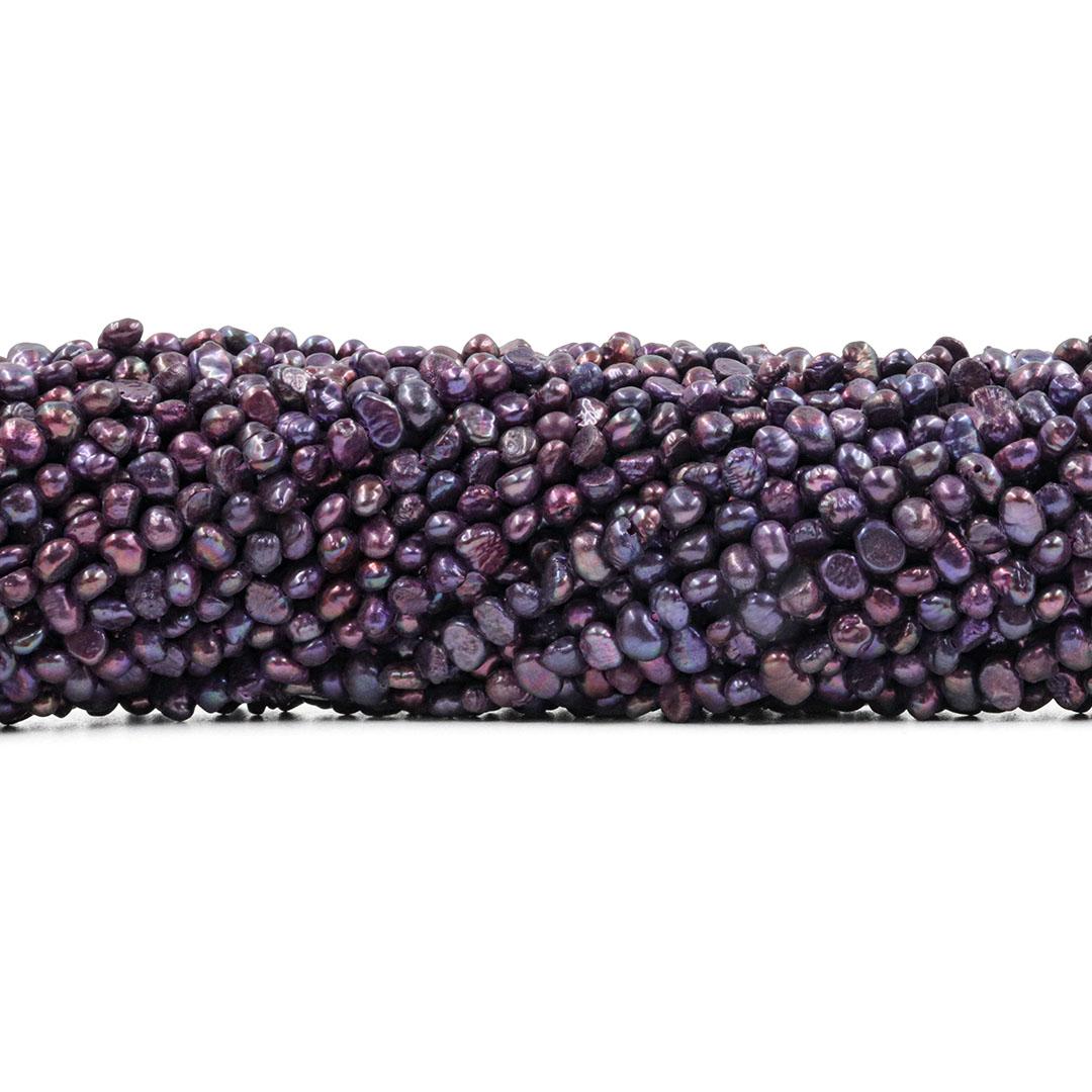 Pérola de Água Doce Uva Frutacor Pão Amassado 4/5mm - PM082  - ArtStones