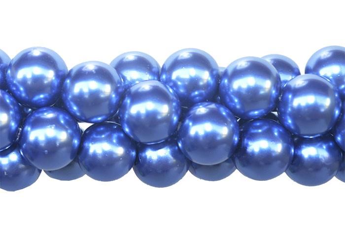 Pérola de Vidro Azul 10mm - 40 pérolas - FPV_208/10  - ArtStones