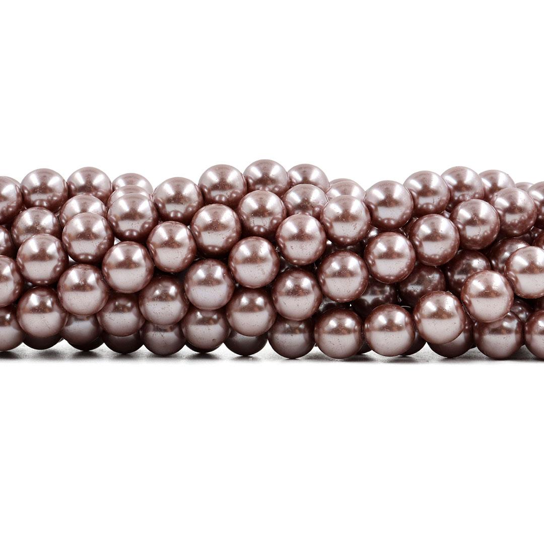 Pérola de Vidro Bronze Claro 10mm - 40 pérolas - PM130  - ArtStones