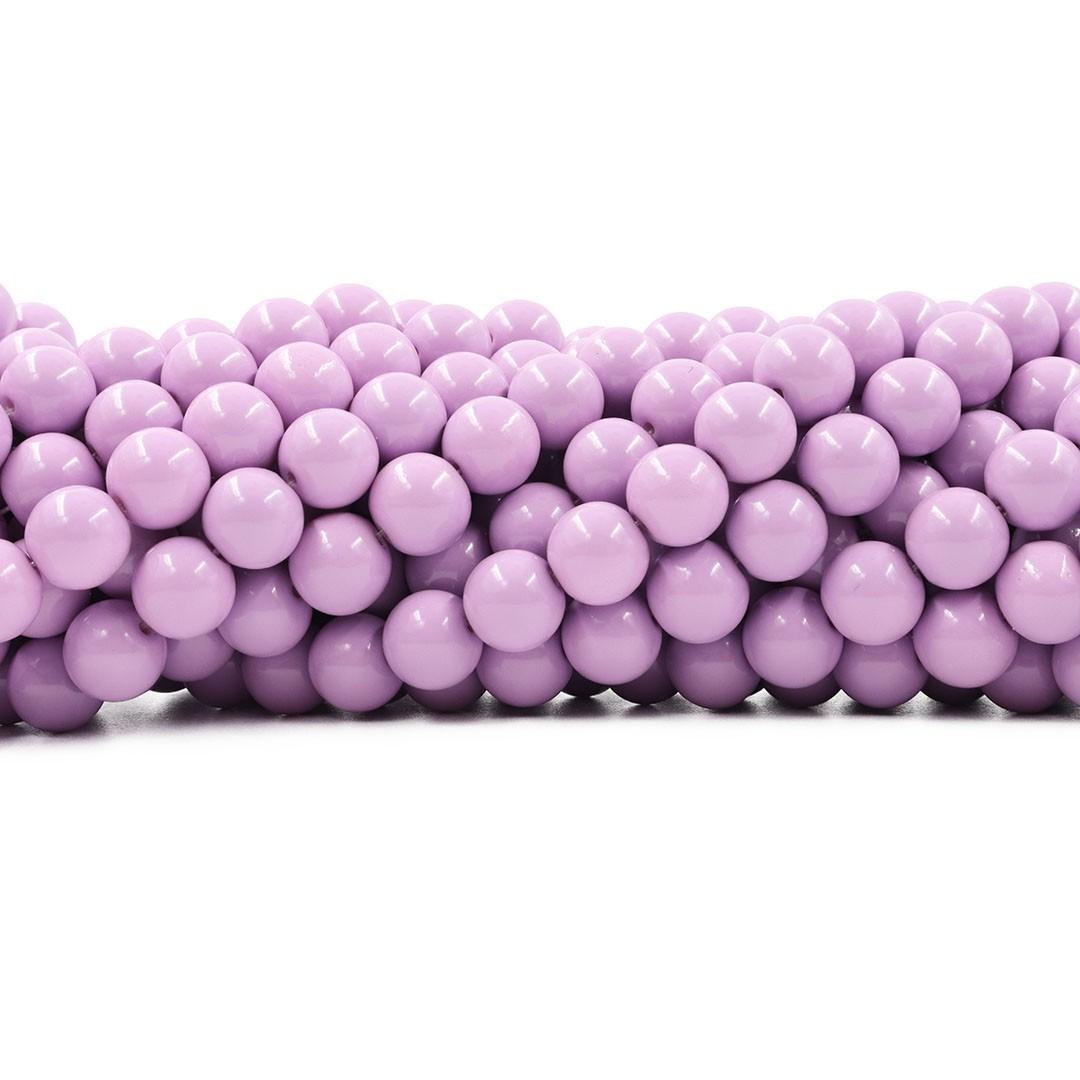 Pérola de Vidro Candy Colors Lavanda  10mm - 40 pérolas - PM014  - ArtStones