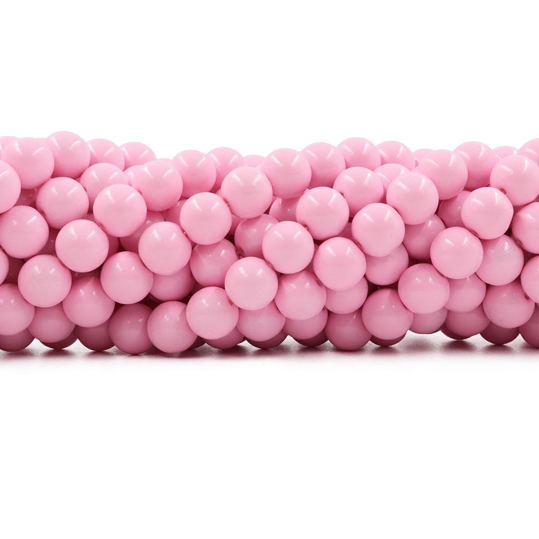 Pérola de Vidro Candy Colors Rosa Bebê 10mm - 40 pérolas - PM015  - ArtStones