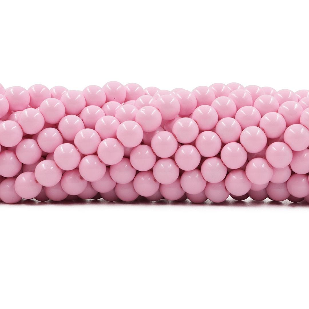 Pérola de Vidro Candy Colors Rosa Bebê 8mm - 45 pérolas - PM017  - ArtStones